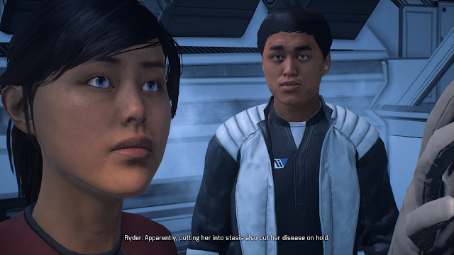 Screenshot of Ryder twins in Mass Effect: Andromeda