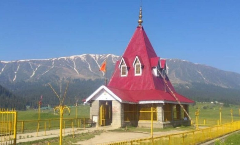 The doors of the Shiva temple at Gulmarg is opened after 108 years in Kashmir at the initiative of the Indian Army