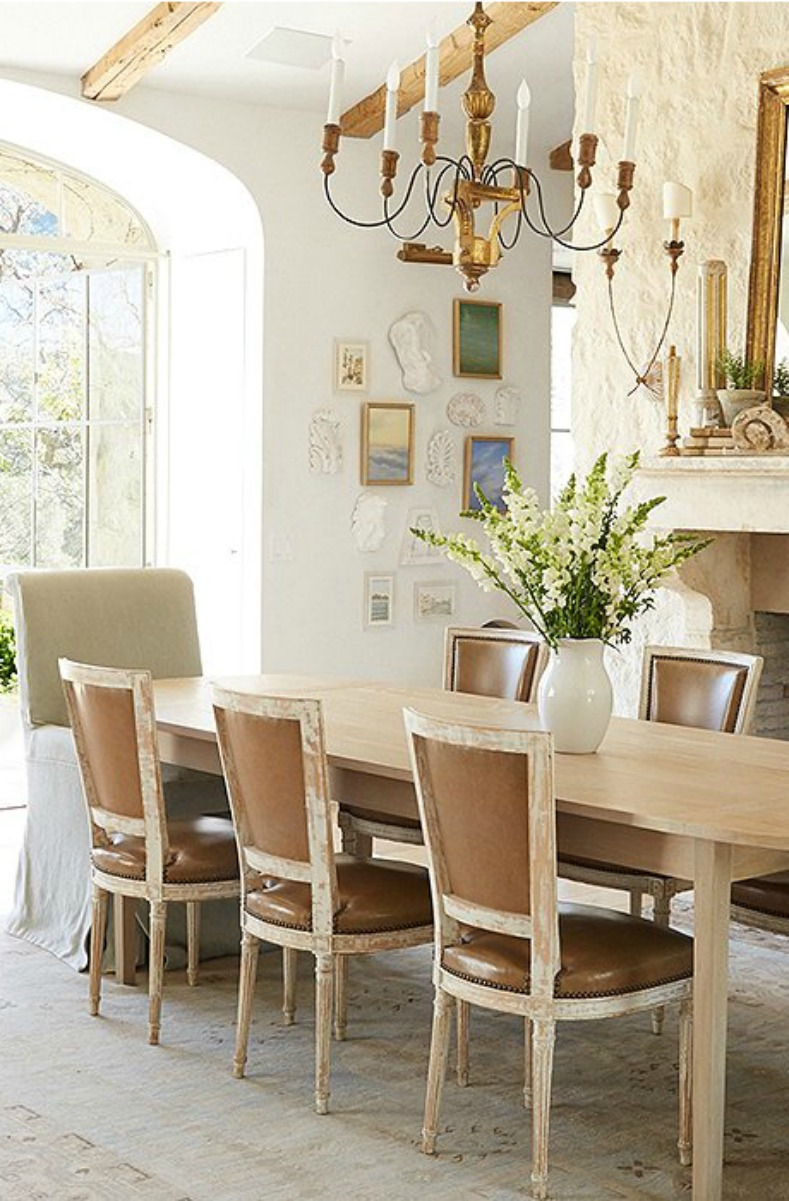 French Country dining room by #GiannettiHome in #modernfarmhouse Patina Farm