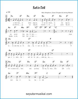 Satin Doll chords jazz standar