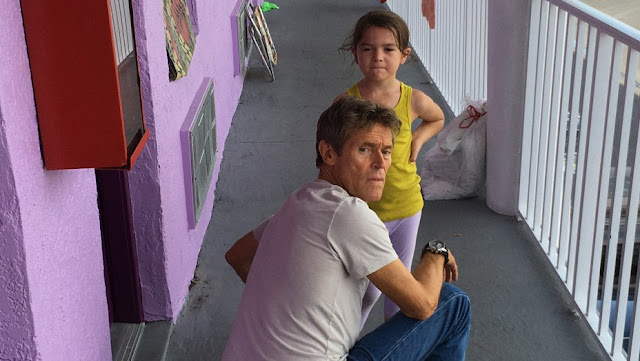 "Willem Dafoe and Brooklynn Kimberly Prince in ""The Florida Project"""