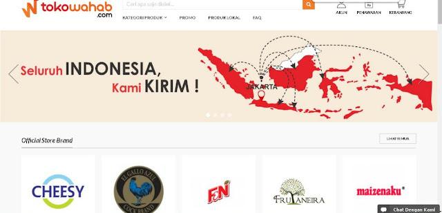Toko Online Wahab Melayani Pembeli Dari Seluruh Indonesia