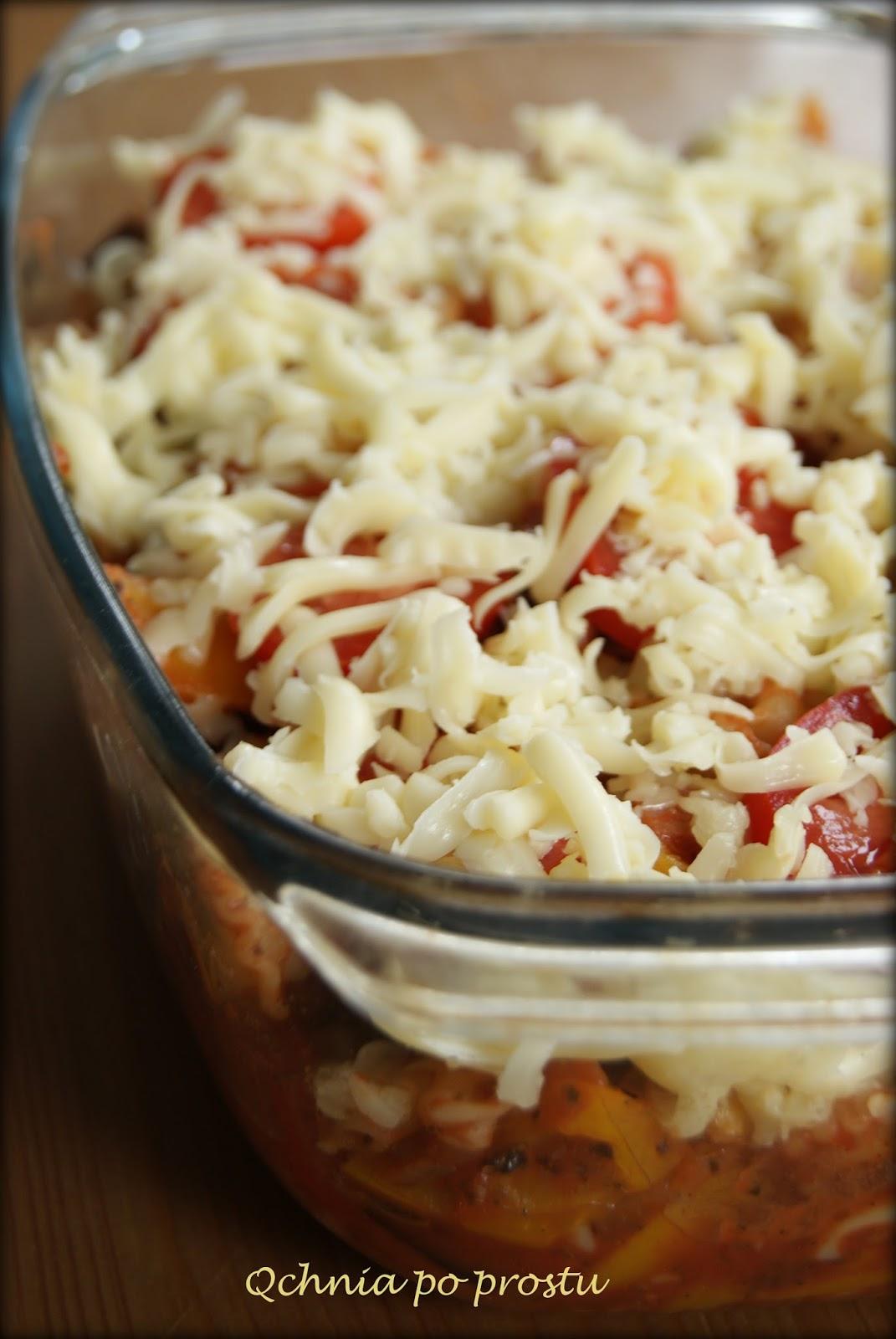 Qchnia po prostu Zapiekanka makaronowa z warzywami i boczkiem -> Qchnia U Orzecha