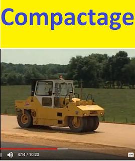 définition du compactage,  role et objectifs du compactage des sols,  optimum de la teneur de l'eau et son role dans le compactage,  traitement du sole pour le compactage,  les différents types de compacteurs ( à pied dammeur, compacteurs vibrants, compacteurs à pneu, à cylindre lisse),  la méthode de compactage, rapport Q/S
