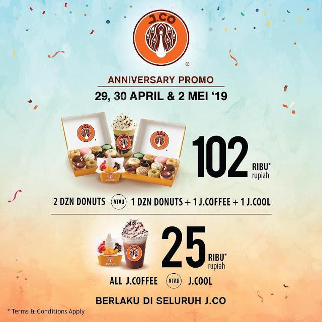 #JCO - #Promo Anniversary Paket 25K & 102K ( 29 - 30 April & 02 Mei 2019 )
