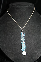 Waterfall pendant - sterling silver, Czech galss beads, chainmaille :: All the Pretty Things