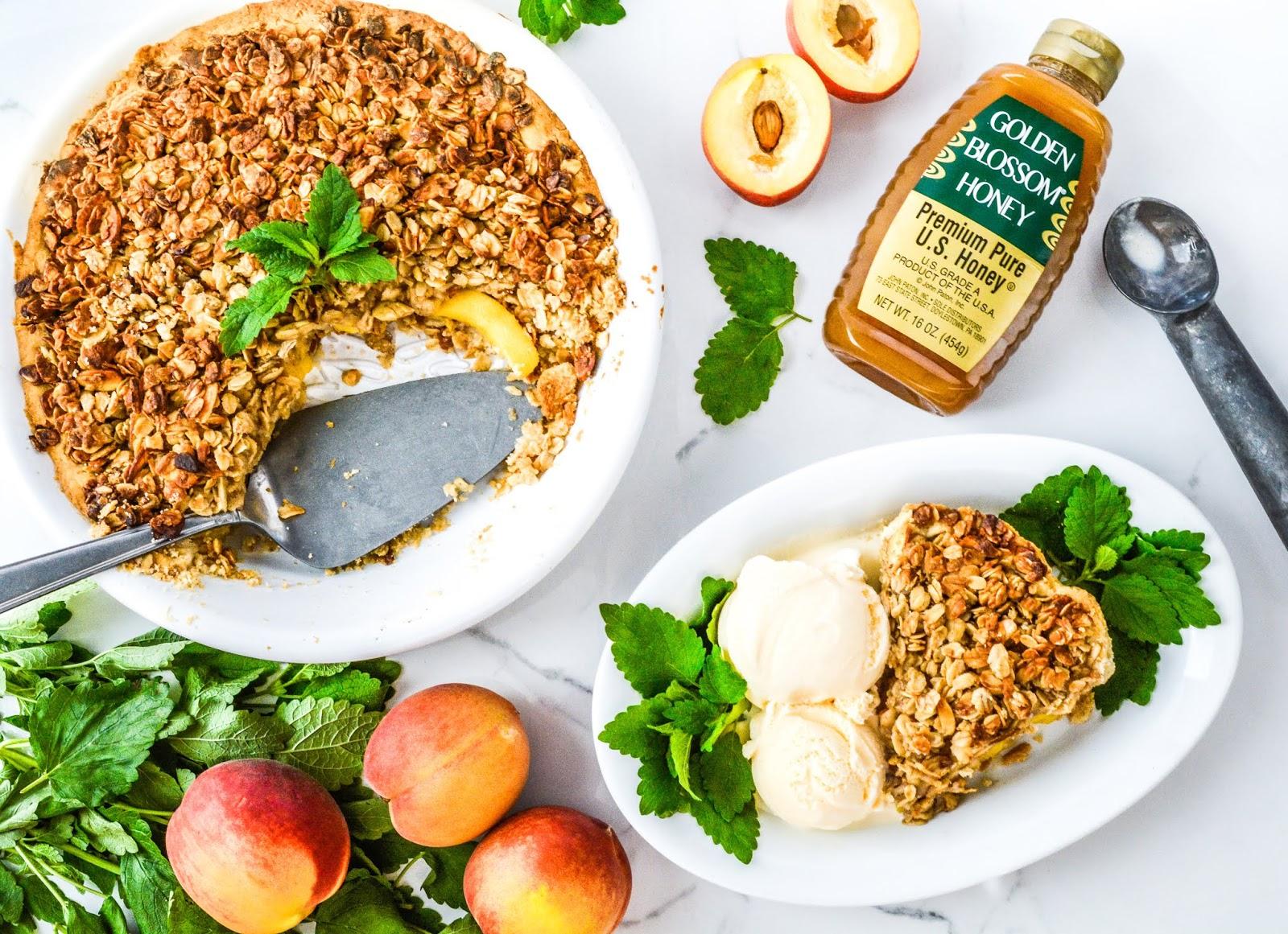 Almond Streusel Peach Pie
