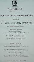 Restoration project in the Heritage rose garden - Elizabeth Park, West Hartford, CT