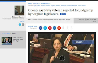 Tracy Thorne-Begland Jennifer McLellan Virginia state senate gay rights