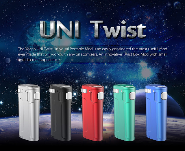 Introducing the UNI Twist Universal Portable Mod from Yocan Tech