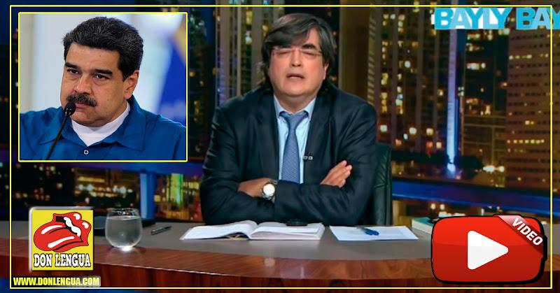 Jaime Bayly dedicó su programa a responderle al Elefantiásico Nicolás Maduro