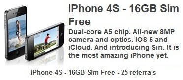 freebiejeebies offers ofertas free grátis prémios ganha ganhar iphone 4s iphone 3gs apple