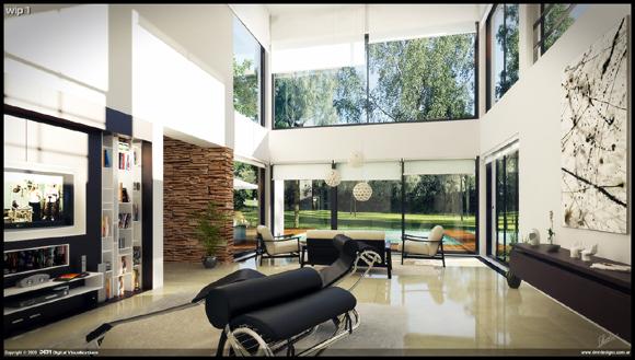 Hogares frescos 25 hermosos dise os interiores para tu for Interiores de diseño