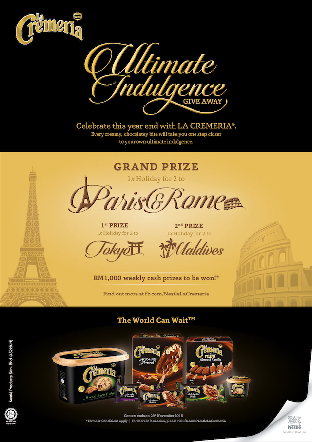 LA CREMERIA Ultimate Indulgence Giveaway