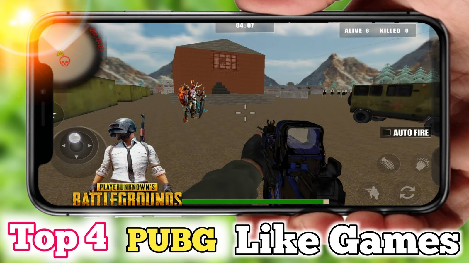 Top 4 Games Like Pubg Under 100 Mb Offline