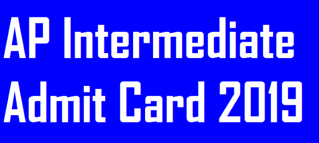 AP Inter Admit Card 2019
