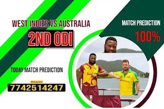 Correct ODI 2nd Match AUS vs WI Who will win Today 100% Match Prediction