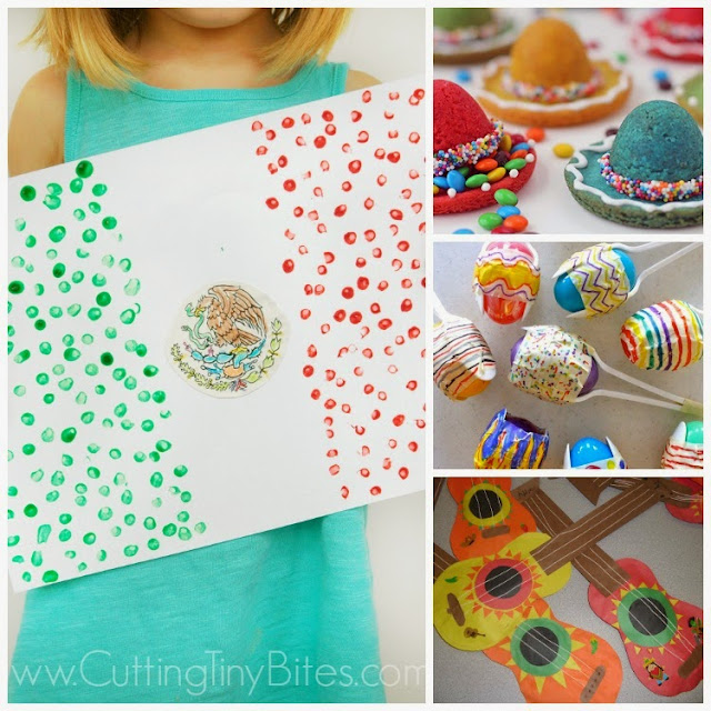 Celebrate Cinco de Mayo with kids! Great collection of crafts and snacks that you can make with your toddler, preschooler, kindergartner, or elementary aged child to help them learn about Mexico and Mexican culture.
