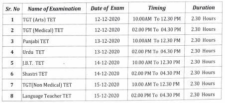 image: HP TET NOV 2020 Exam Schedule December 2020 @ TeachMatters