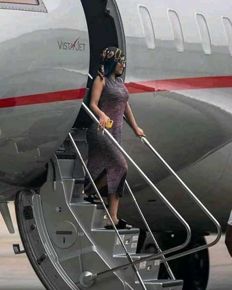 Cardi B arrives Lagos, Nigeria for the first time- see photos below