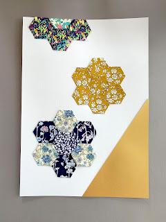 Liberty stoffet kan bruges til at lave en illustration med patchwork mønster.