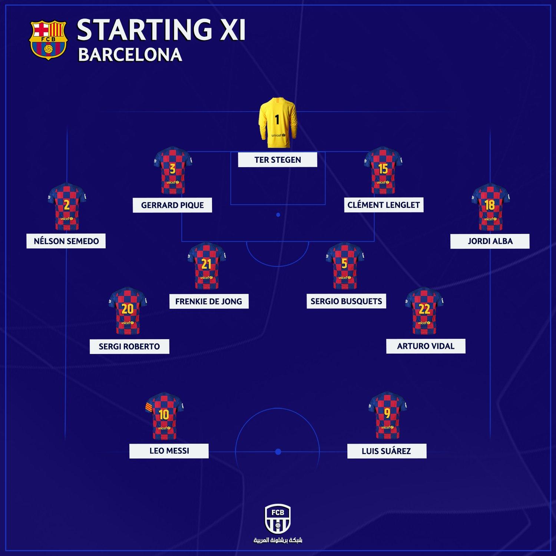 تشكيل برشلونة الرسمي
