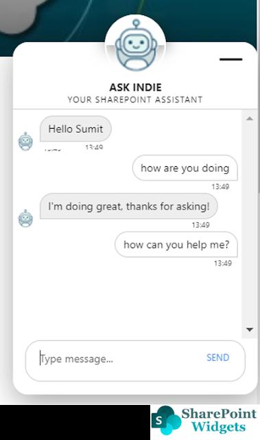 SPFx Chat Bot - using SharePoint Framework Extension