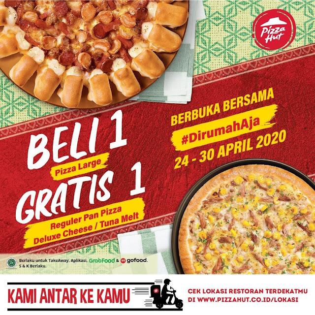 #PizzaHut - Promo Beli 1 Gratis 1 Pizza (s.d 30 April 2020)