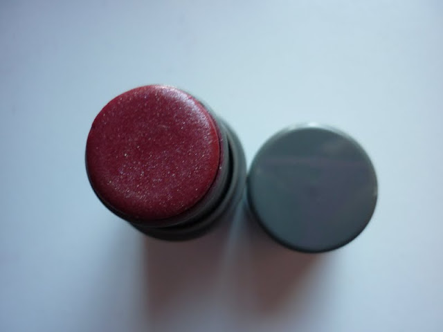 eyeko chubby blusher stick red with shimmer