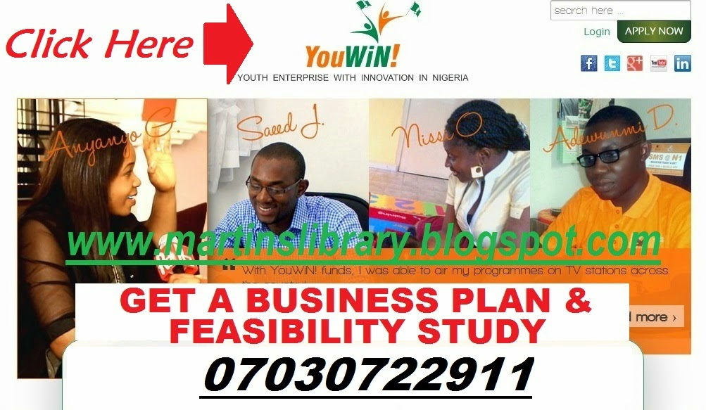 GET BUSINESS PLAN FOR YOUWIN COMPETITION