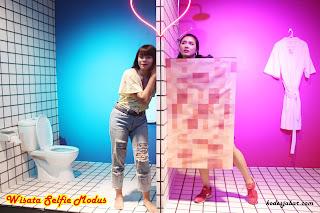 Modus Spot selfie di toilet