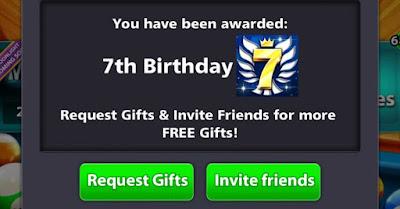 Free Avatar 8 ball pool 7th Birthday