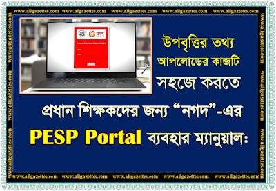 PESP পোর্টাল ইউজার ম্যানুয়াল || PESP Portal User Manual For Head Teacher.