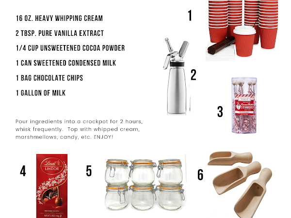 HOT COCOA BAR WITH RECIPE