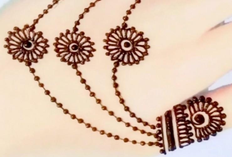 Easy Mehndi Design Jewellery Pattern