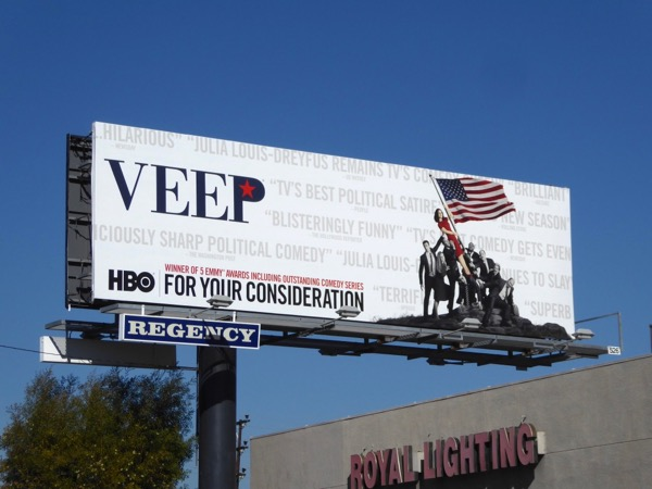 Veep season 6 Golden Globes consideration billboard