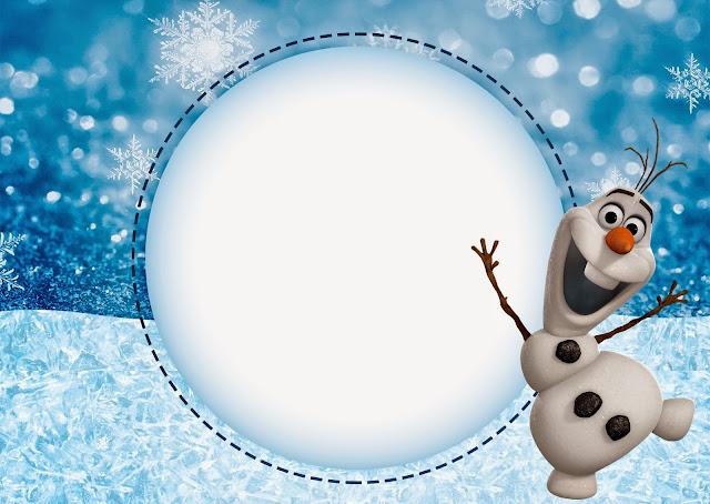 Para hacer invitaciones, tarjetas, marcos de fotos o etiquetas de Olaf para imprimir gratis.