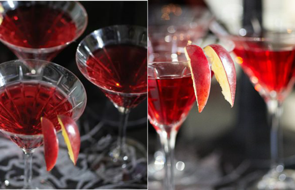 Halloween Vampire Blood Bar Cocktail Recipes - via BirdsParty.com