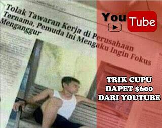 Tips Mendapatkan Uang dari Youtube Tanpa Ribet Untuk Pemula