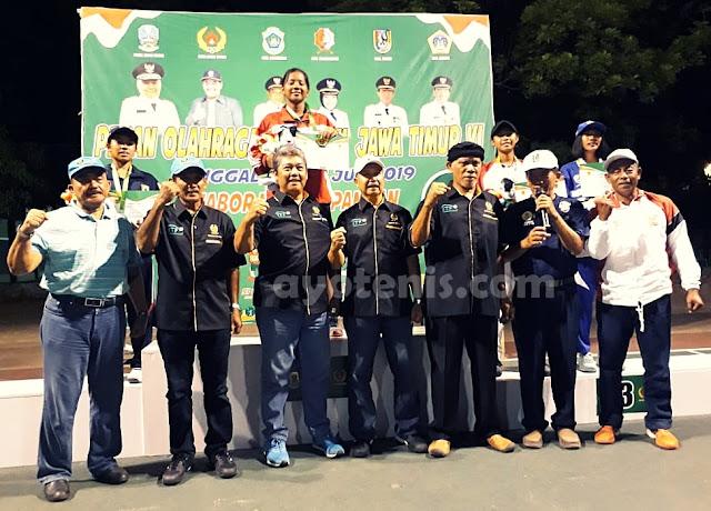 Tenis Porprov Jatim VI: Cartika Wisesha Persembahkan Emas Bagi Kontingen Kota Kediri