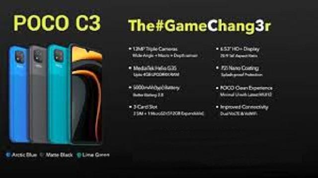 Xiaomi Poco C3 - Spesifikasi dan Harga