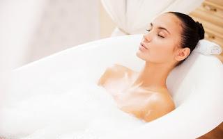 Baño con espuma y magnesio