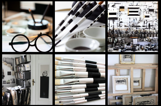 Tenka Gammelgaards studio och detaljer från hennes hem