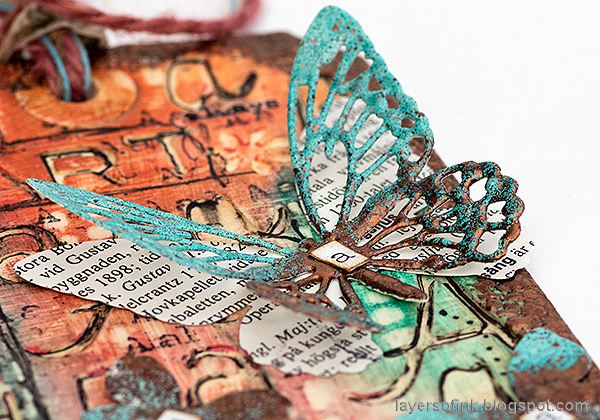 Layers of ink - Typography Tag Tutorial by Anna-Karin Evaldsson. Detailed butterfly.