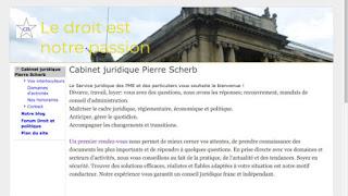 Le site du Cabinet Juridique Pierre Scherb