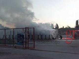 Πάτρα:Στις φλόγες τροχόσπιτο στην οδό Μειλίχου