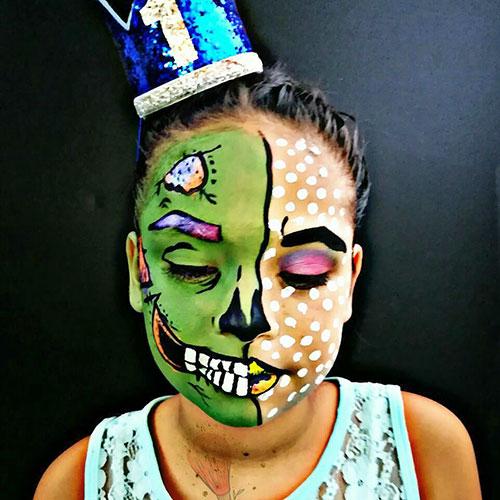 ideas de maquillaje infantil para halloween