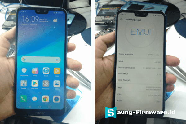 bypass Frp Huawei Nova 3e ANE-LX1 android 9