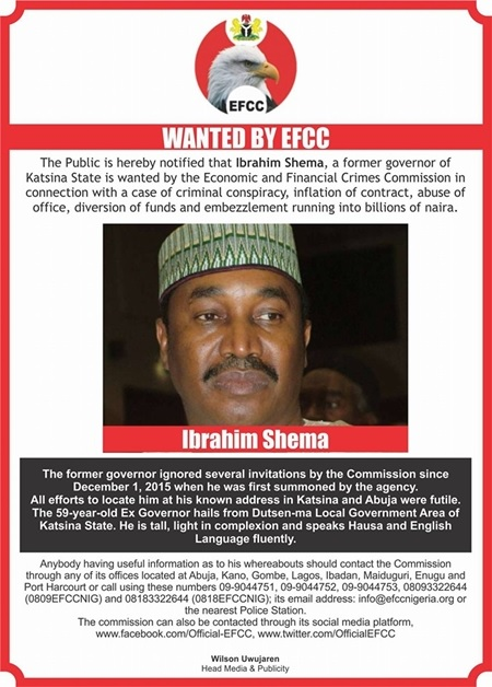 Just In: Wanted Former Governor of Katsina State, Ibrahim Shema Turns Himself In