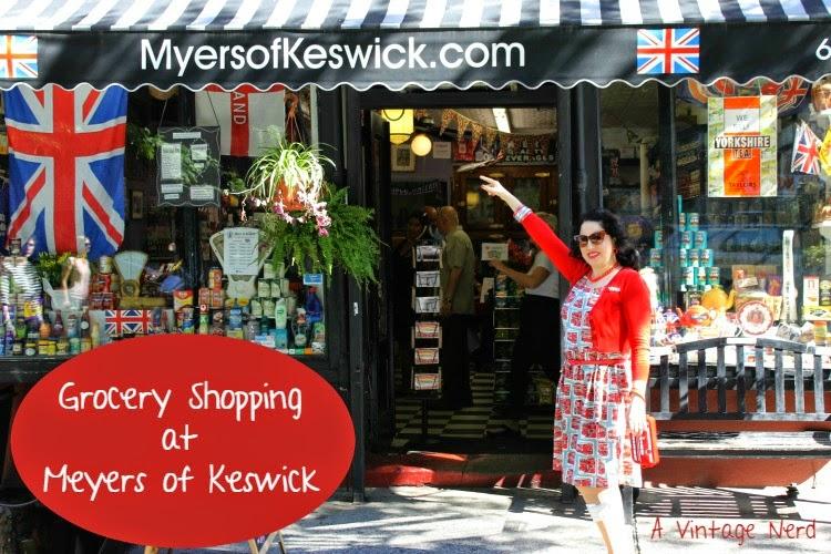 A Vintage Nerd, Meyers of Keswick, Vintage Blog, London In New York, British Shops in New York, Cath Kidston London Bus Dress